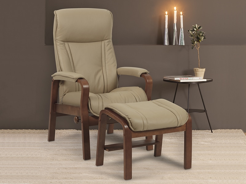 Jade Recliner And Ottoman Indoor Furniture