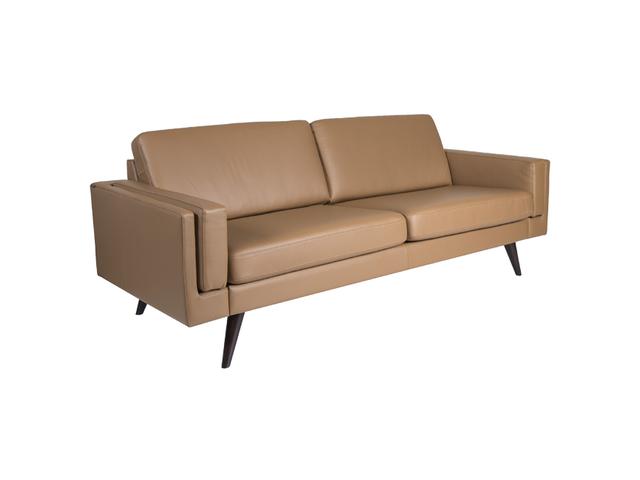 NordicSofa Sofa 3 seater DUO (2 x 33.5 cushions) Arm 11 SL Hassel Espresso