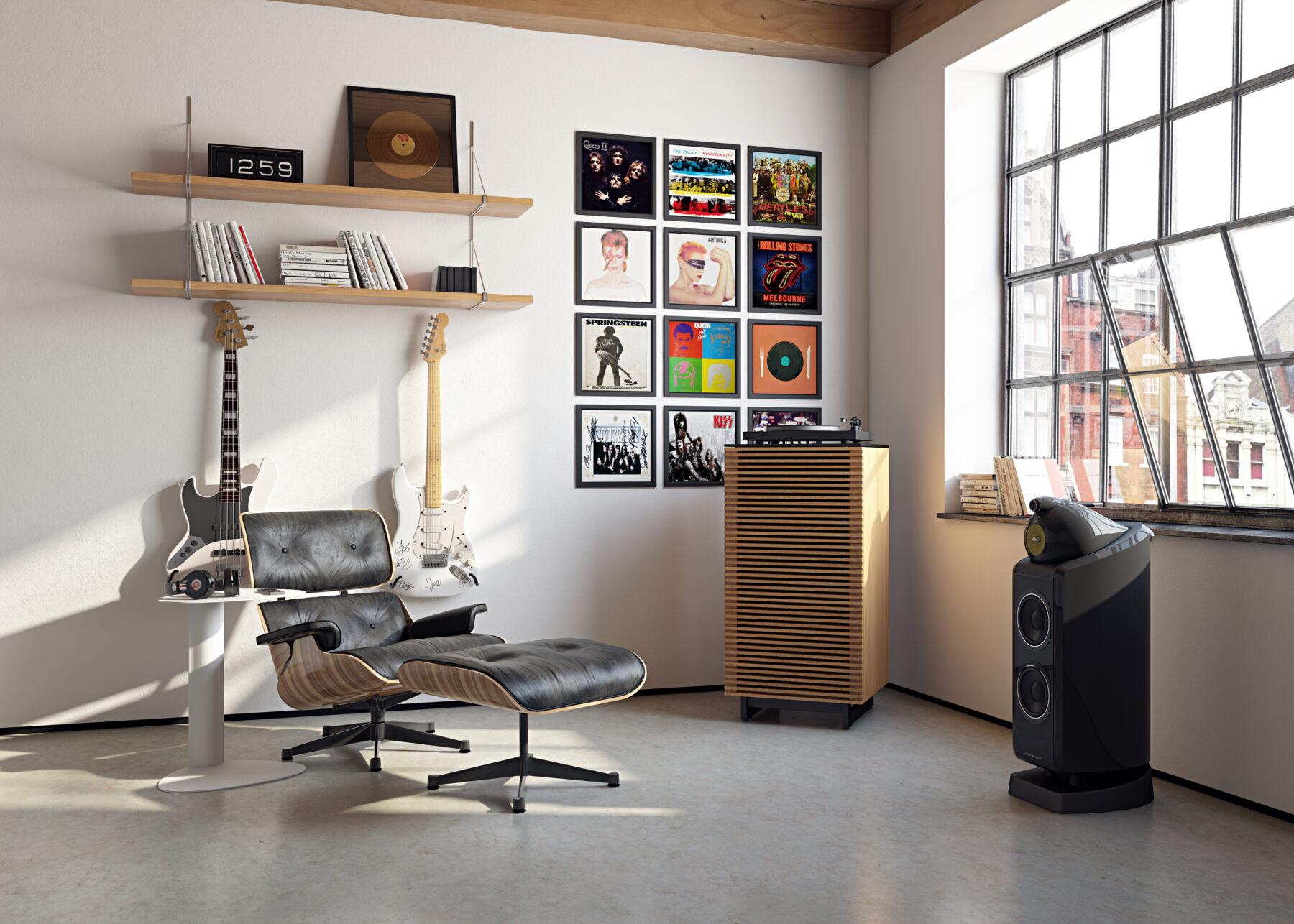 corridor-audio-tower-8172-BDI-wok-listening-room-setting